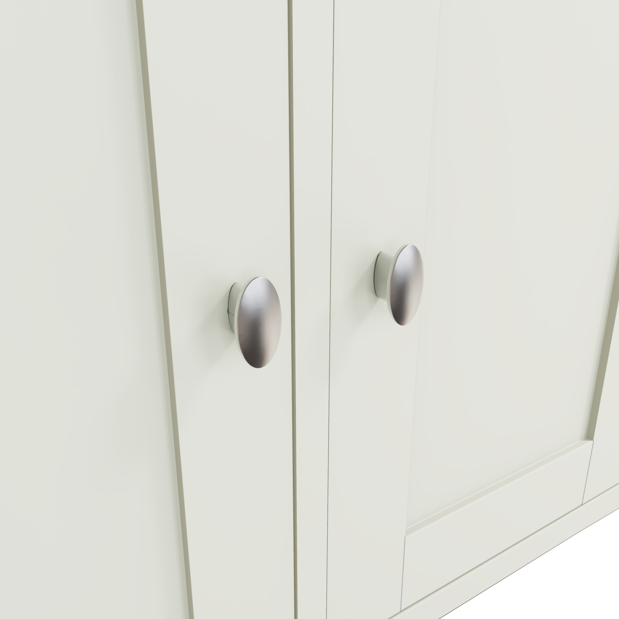 Essentials Painted Large 3 Door Sideboard - White