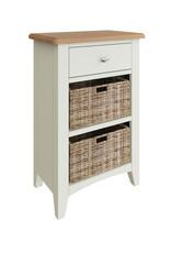 Essentials Painted 3 Drawer Storage Unit - White