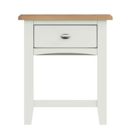 Essentials Painted Lamp Table - White