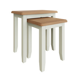 Essentials Painted Nest of 2 Tables - White
