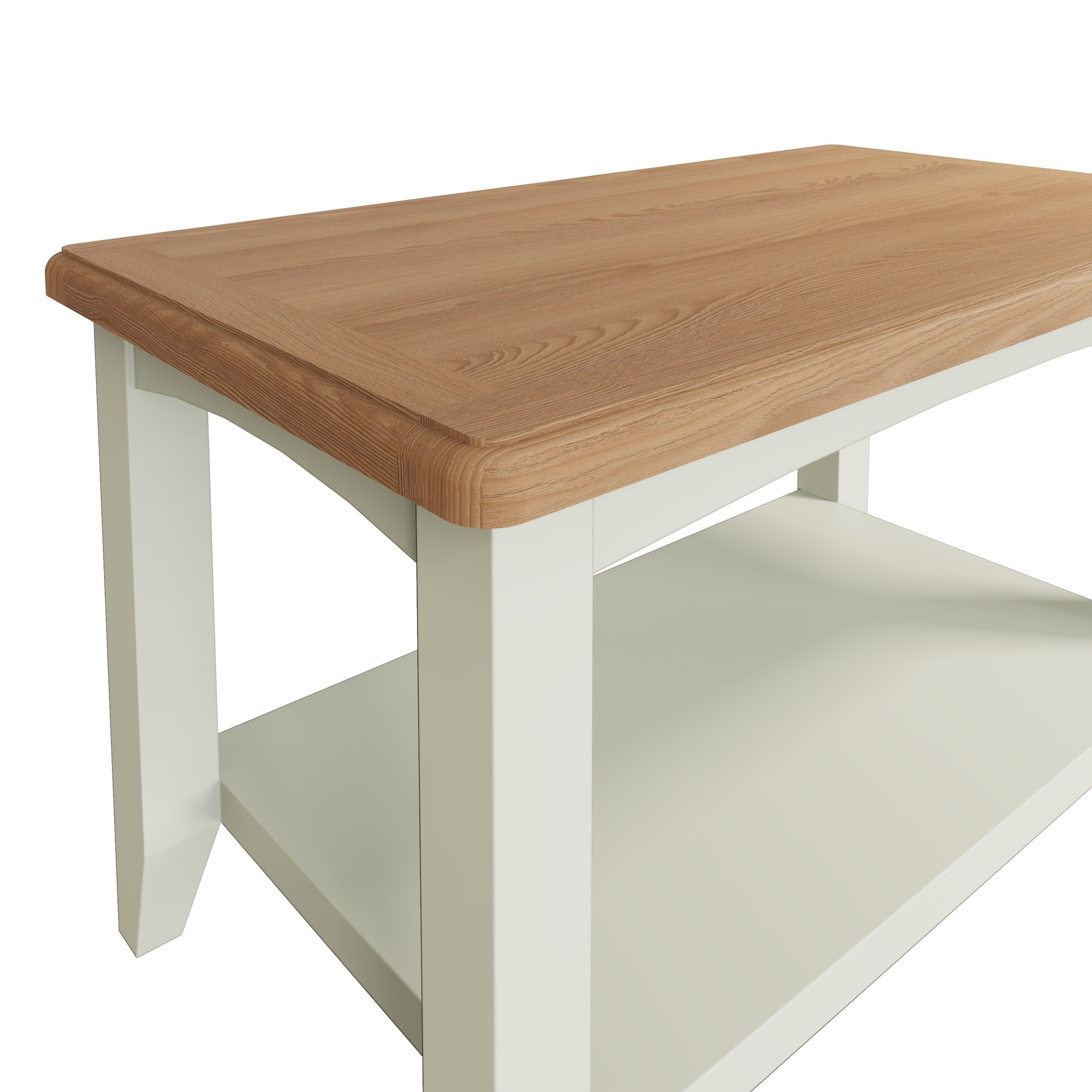 Essentials Painted Small Coffee Table - White