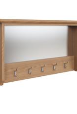 Essentials Light Oak Coat Rack with Mirror