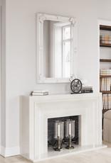 Essentials White Wooden Wall Mirror