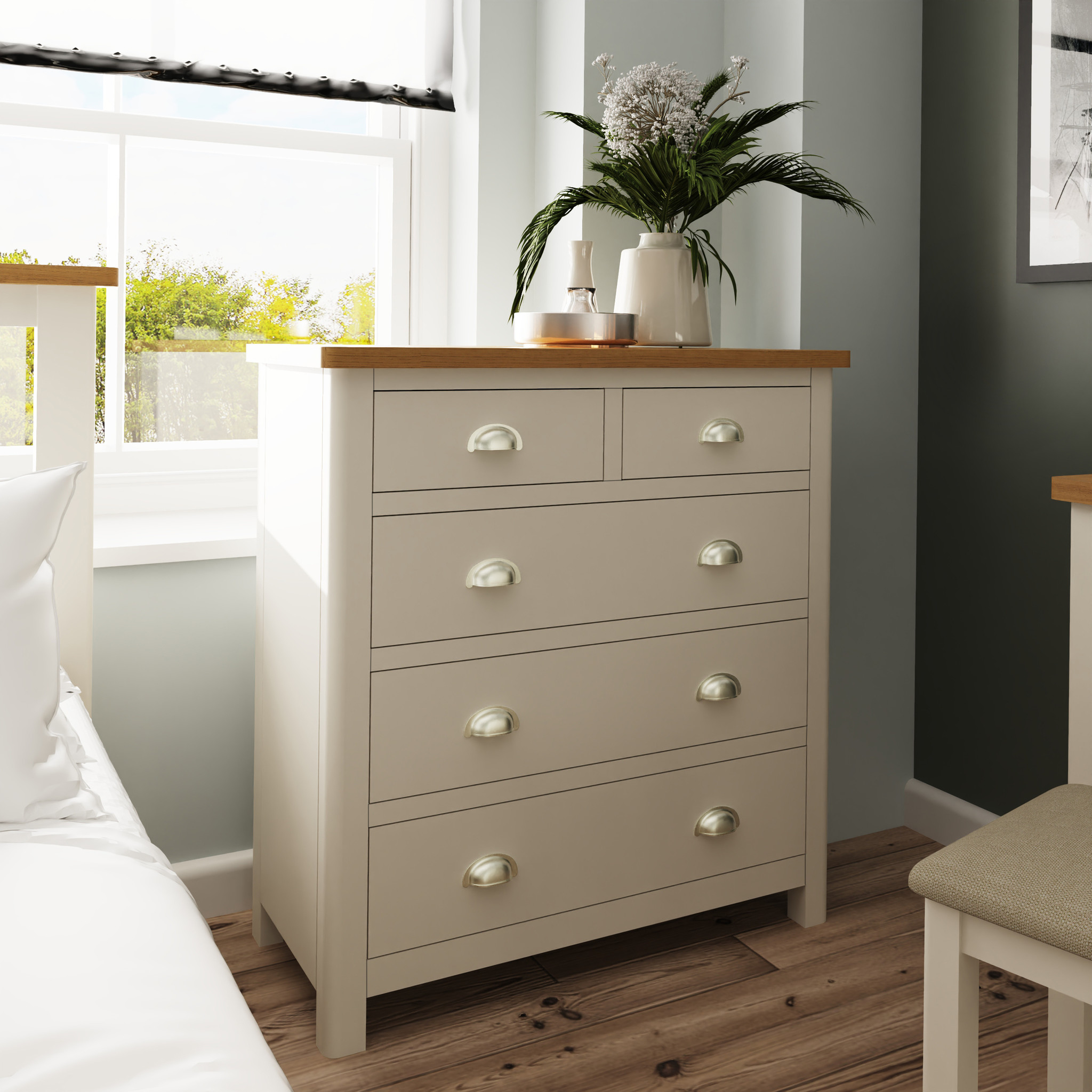 Essentials Grey Truffle 2 Over 3 Chest Of Drawers