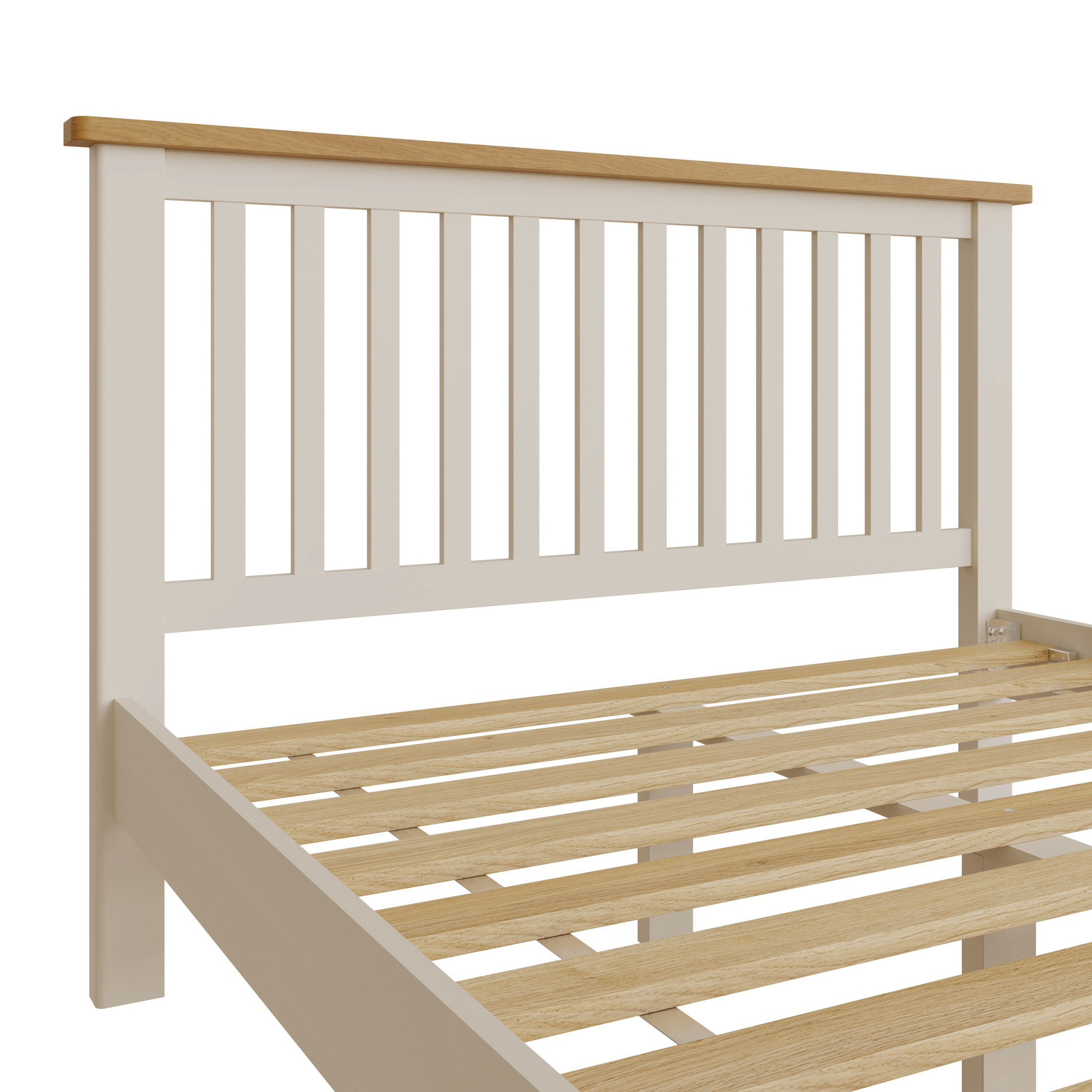Essentials Dove Grey Double Bed