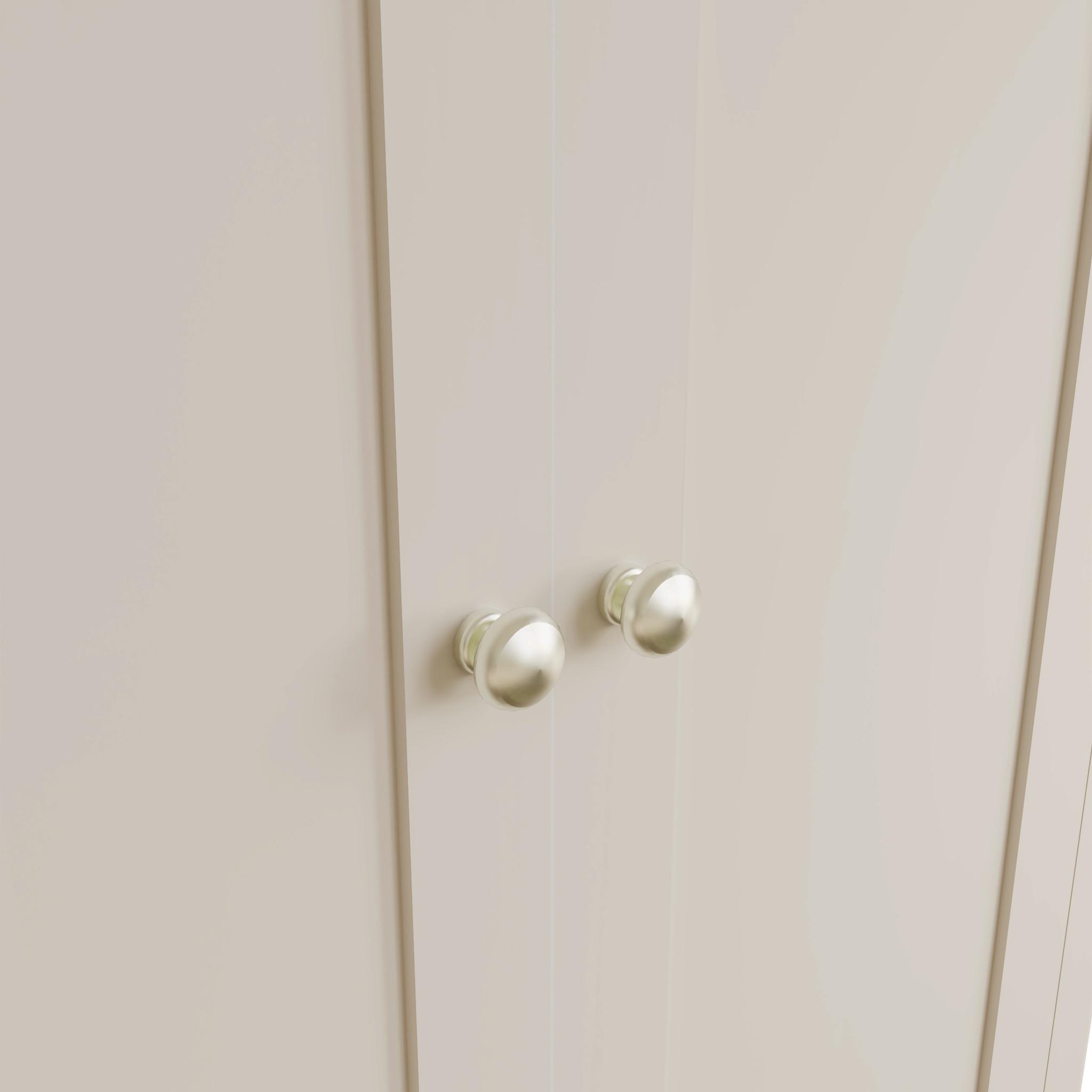 Essentials Dove Grey Double Wardrobe