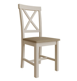 Essentials Dove Grey Cross Back Chair