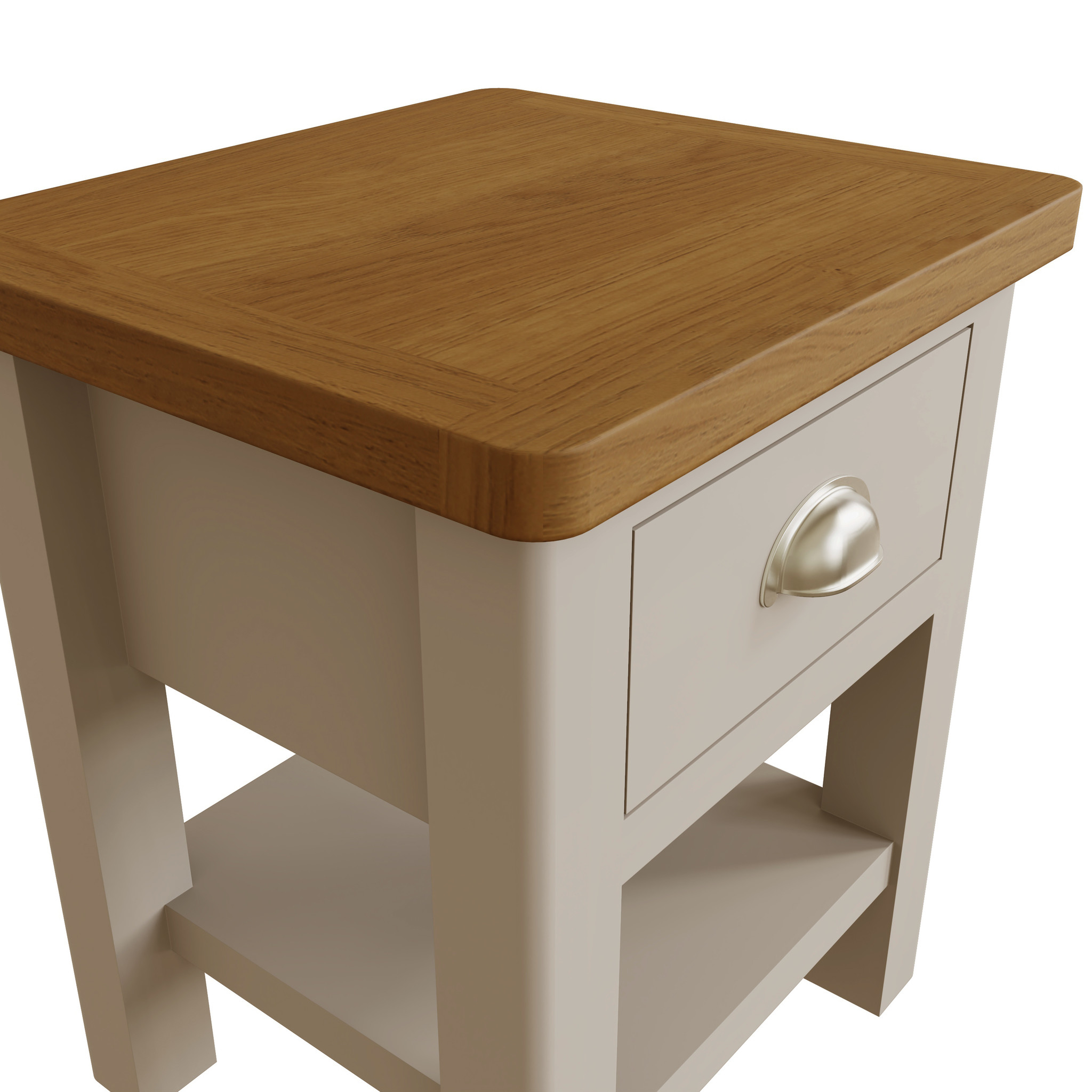Essentials Dove Grey Lamp Table
