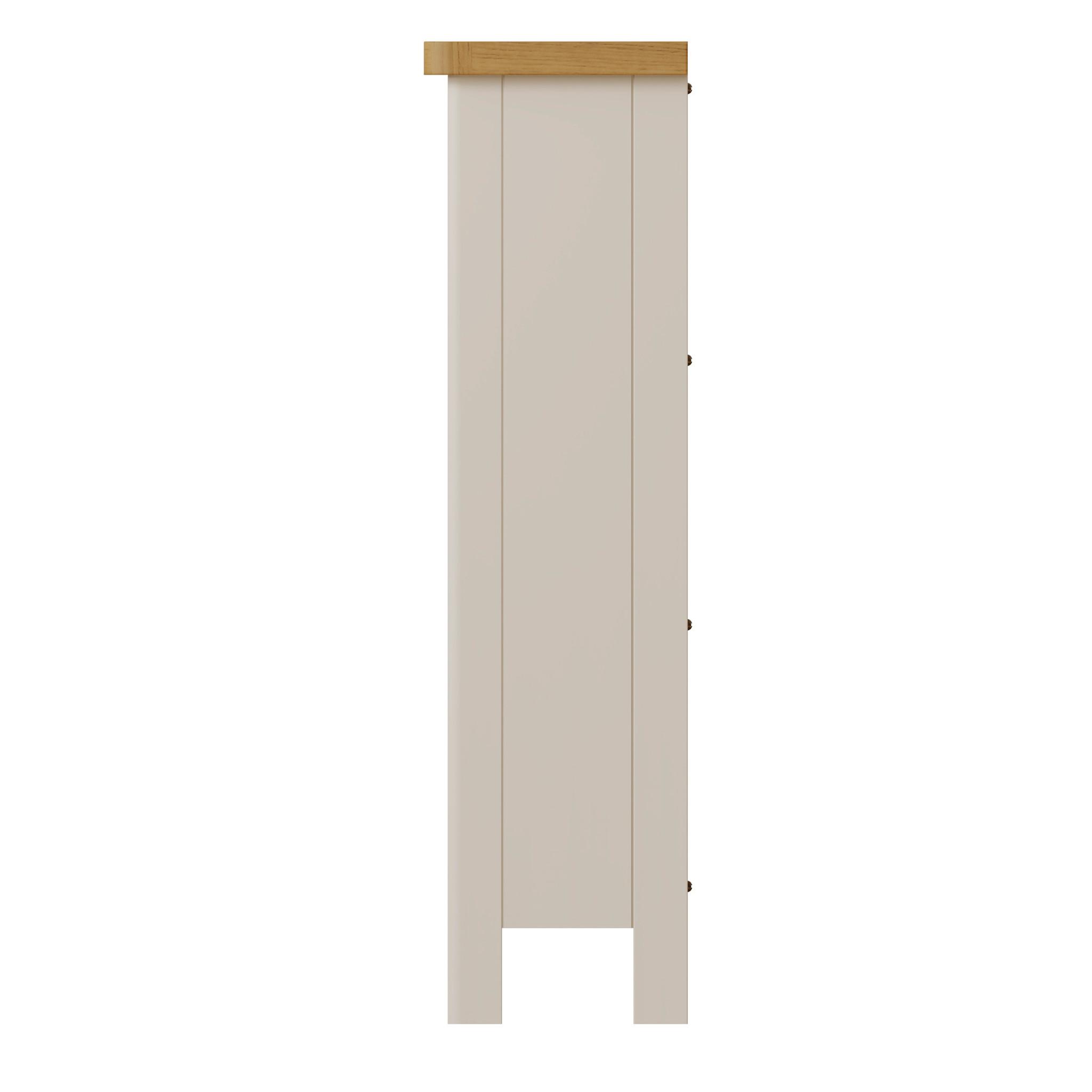 Essentials Dove Grey Small Wide Bookcase