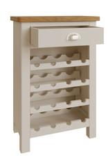 Essentials Dove Grey Wine Cabinet