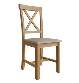 Essentials Rustic Oak Cross Back Chair