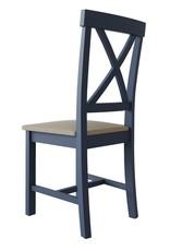 Essentials Dark Blue Cross Back Chair
