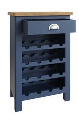 Essentials Dark Blue Wine Cabinet