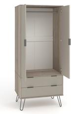 Augusta Driftwood 2 door, 2 drawer wardrobe
