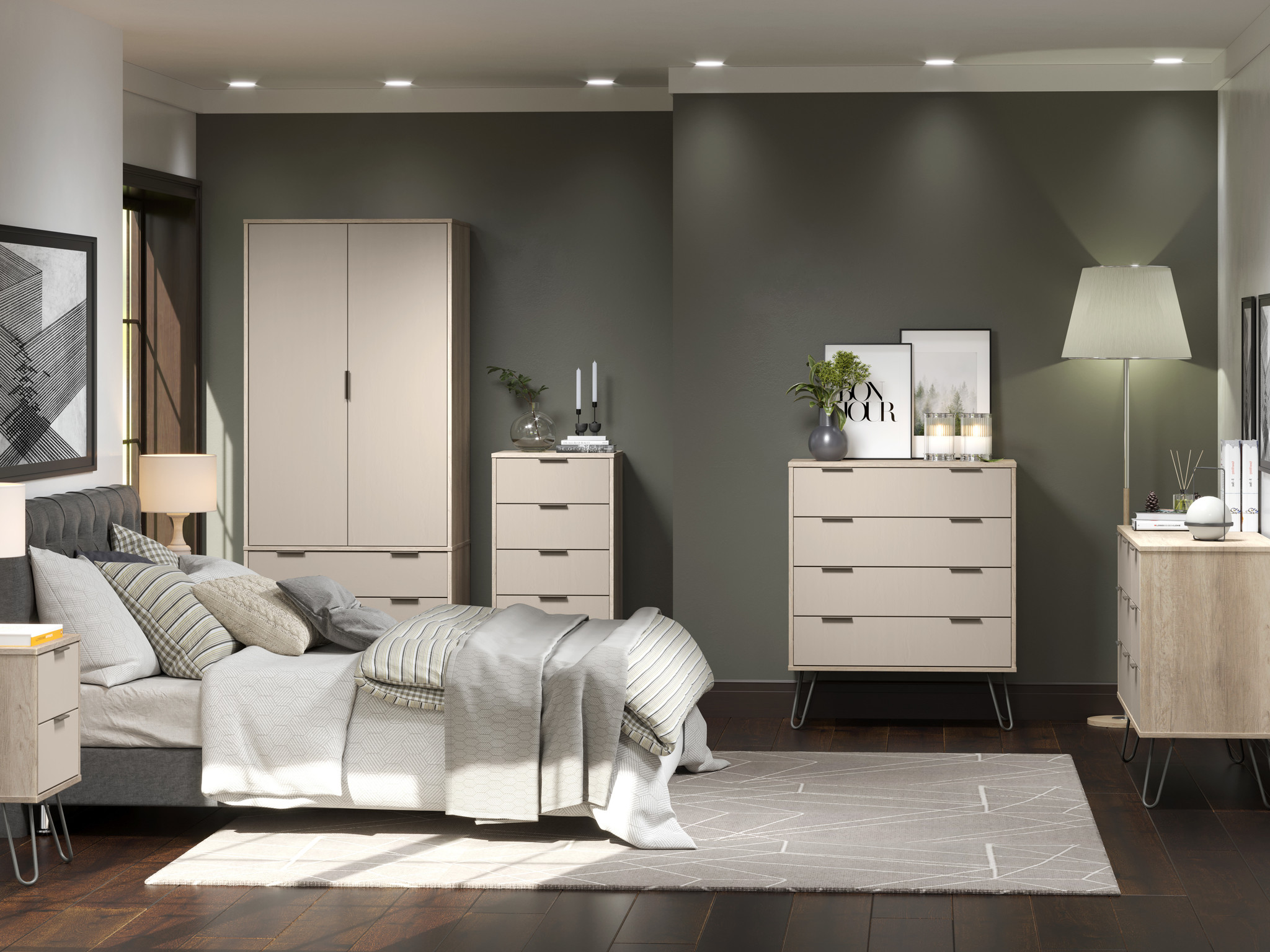 Augusta Driftwood 4 drawer narrow chest of drawers