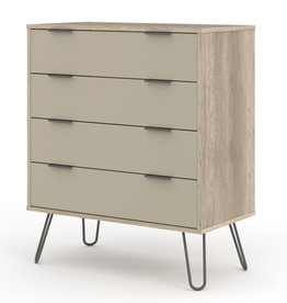 Augusta Driftwood 4 drawer chest of drawers