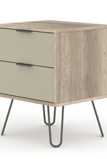 Augusta Driftwood 2 drawer bedside cabinet