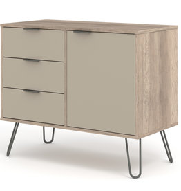 Augusta Driftwood small sideboard with 1 doors, 3 drawers