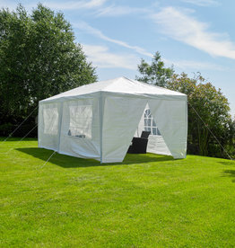 Kingfisher Outdoor 3M x 6M Party Tent Marquee  White With Sides