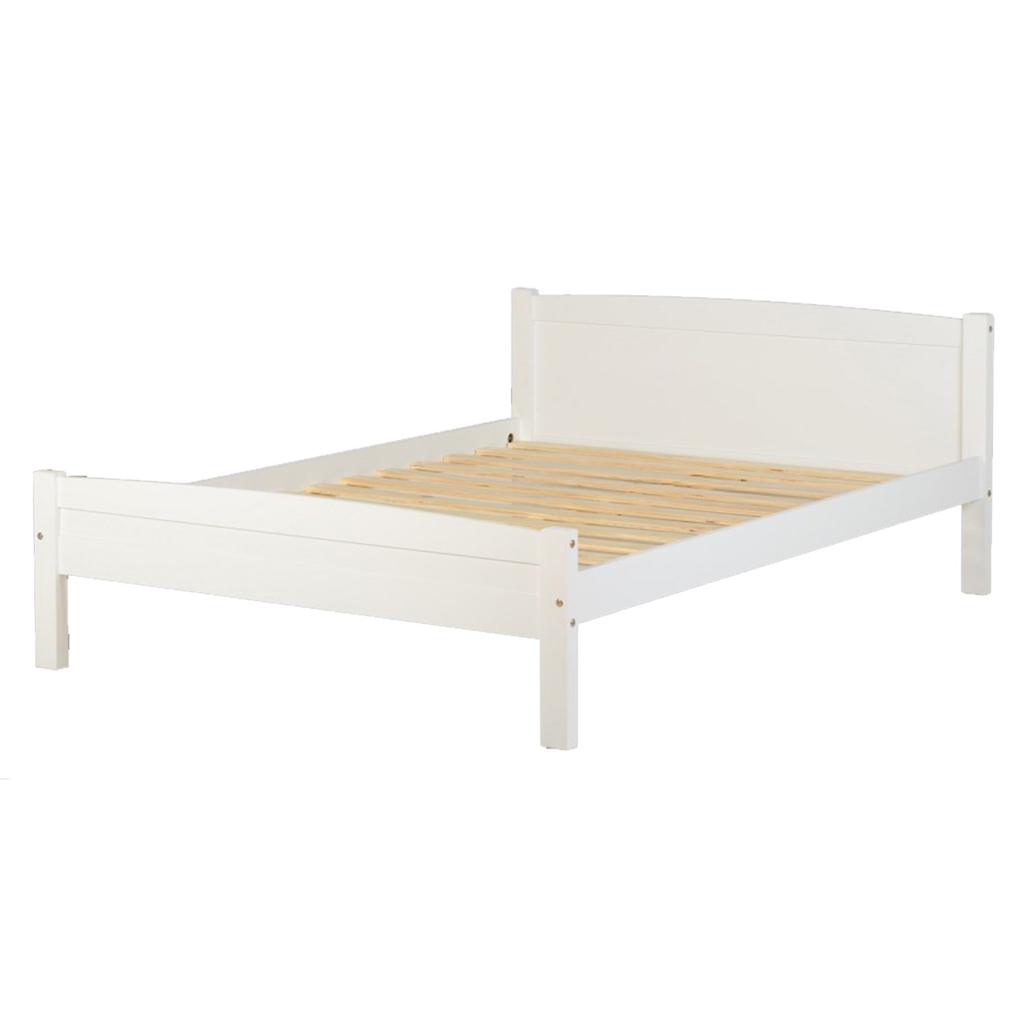 Seconique Amber Double Bed - White