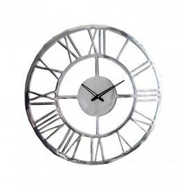 Gallery Pavia Large Wall Clock Polished Aluminium