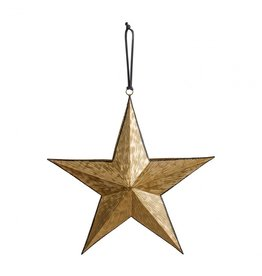 Gallery Turin Hanging Star Gold/Black - 3 Sizes Available