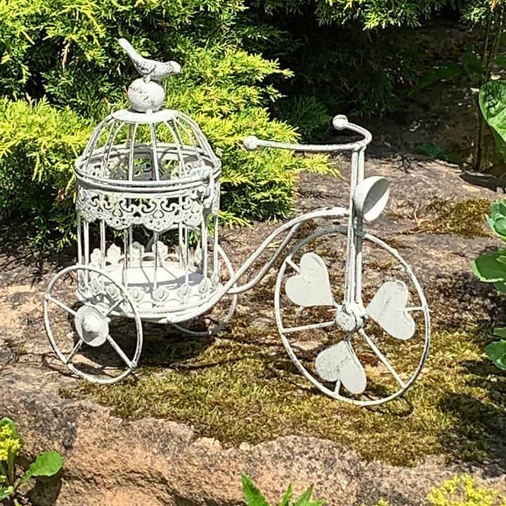 Metal Bicycle Statue Planter