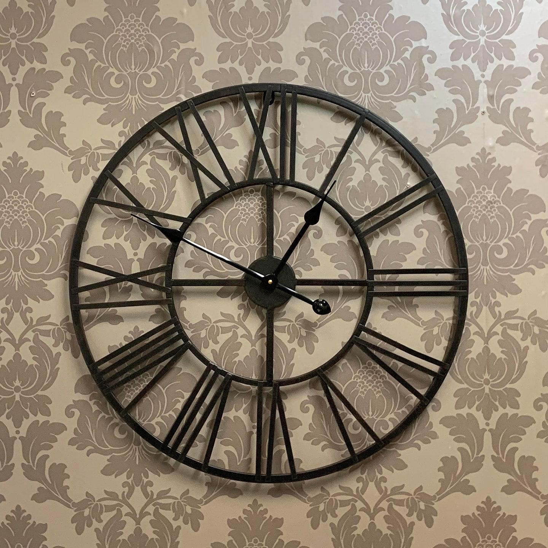 Large Metal Clock - 50 & 60 cm