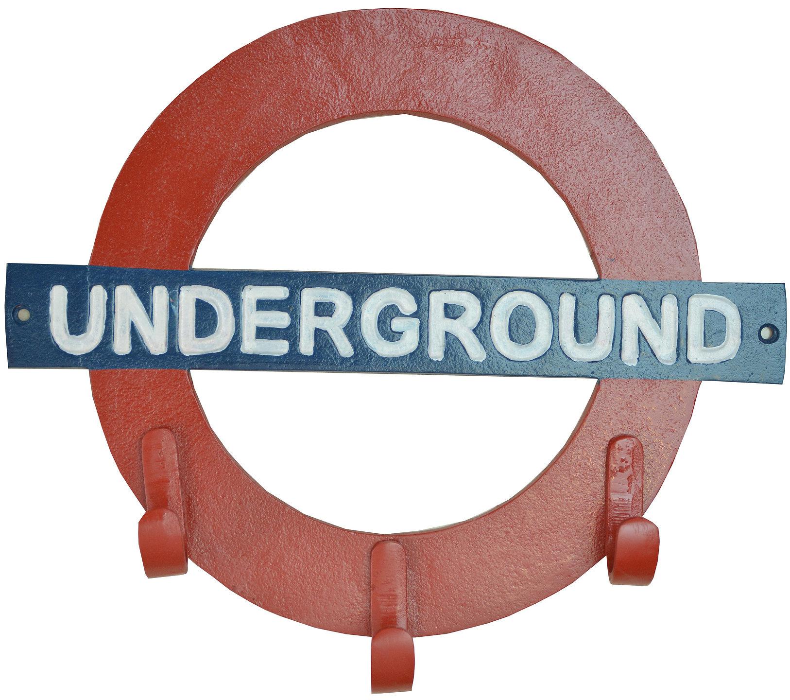 Aluminium London Underground Coat Hook