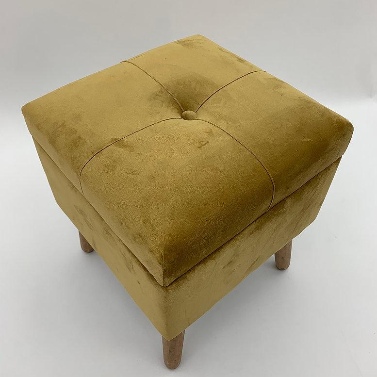 Deluxe Yellow Ottoman Footstool Trunk