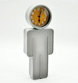 Body Wall Clock Silver
