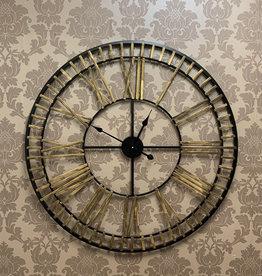 Large Black & Gold Wall Clock