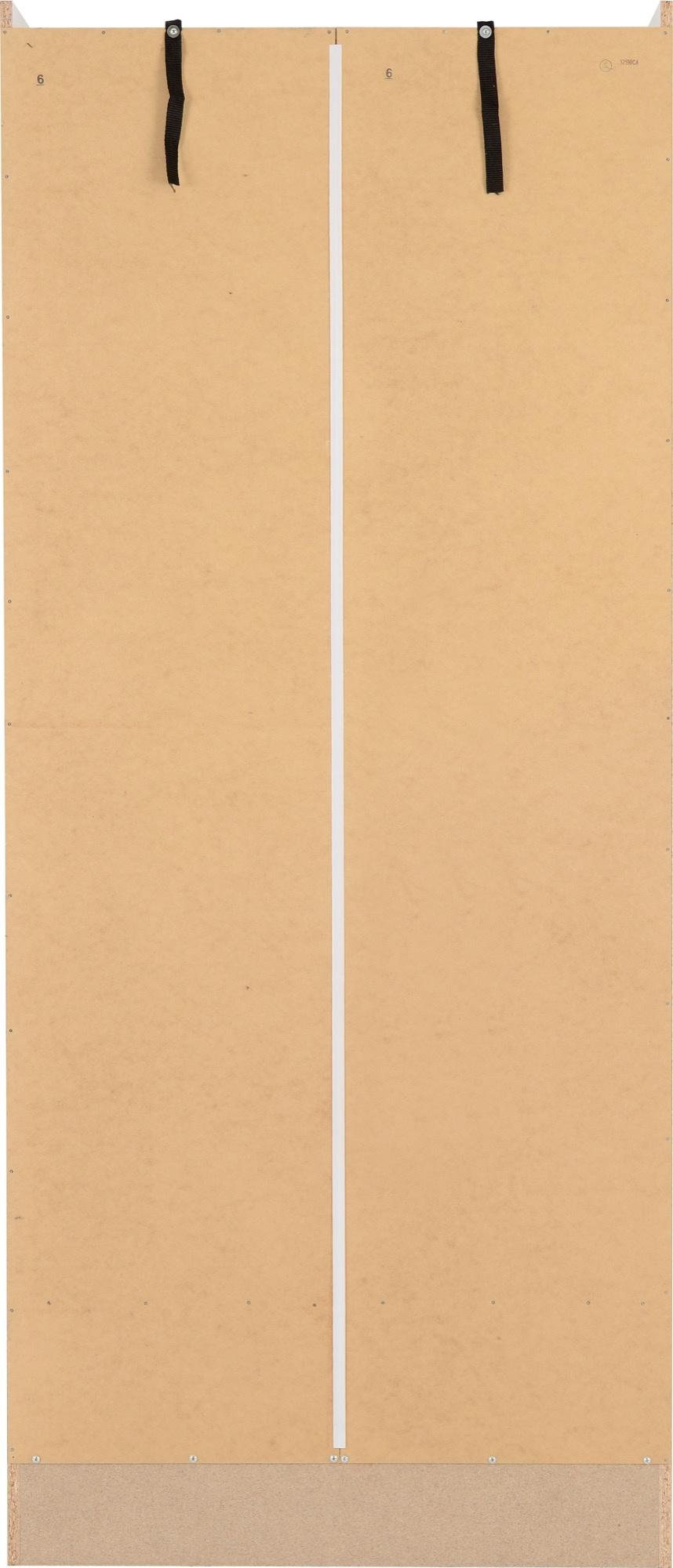 Seconique Nevada 2 Door 1 Drawer Wardrobe White Gloss