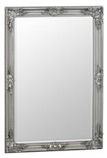 Essentials Silver Wooden Accent Mirror