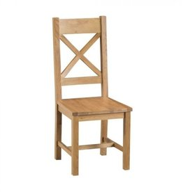 Essentials Oak Cross Back Chair