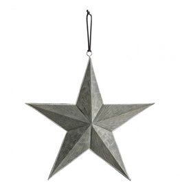Gallery Turin Hanging Large Star Grey/Silver