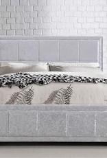 Birlea Hannover Steel Crushed Velvet Ottoman Bed - Double