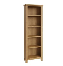 Essentials Rustic Oak Large Bookcase