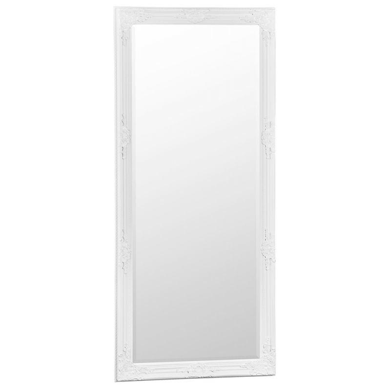 Essentials White Wooden Accent Leaner  Mirror