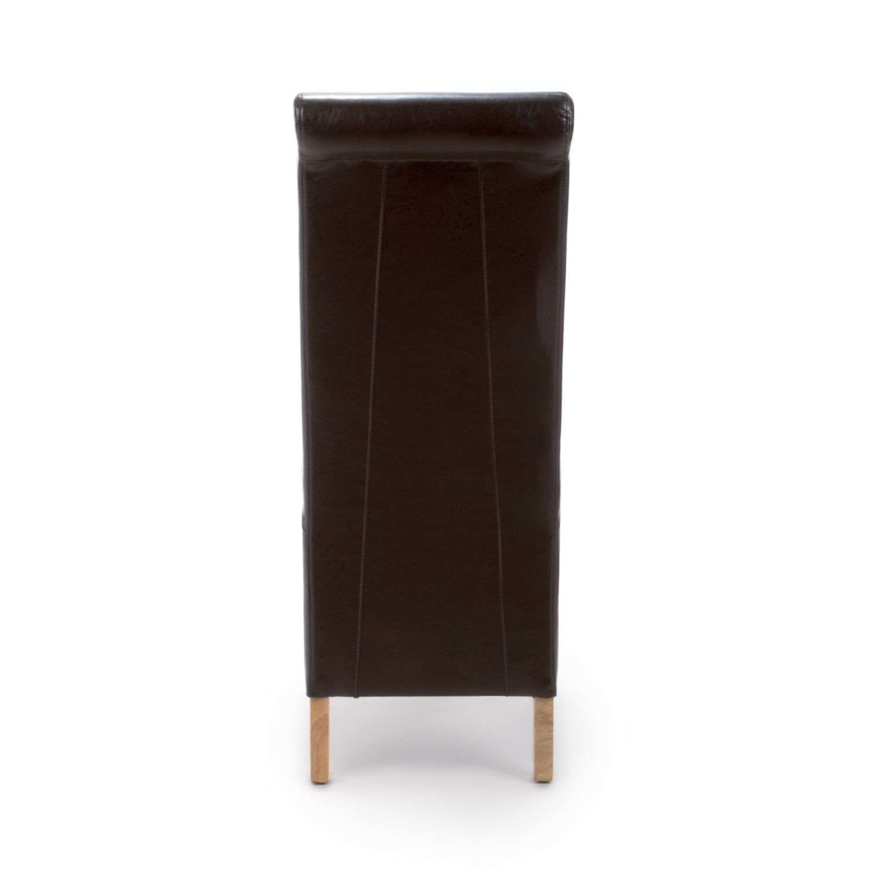 Shankar Krista Roll Back Bonded Leather Brown Chair
