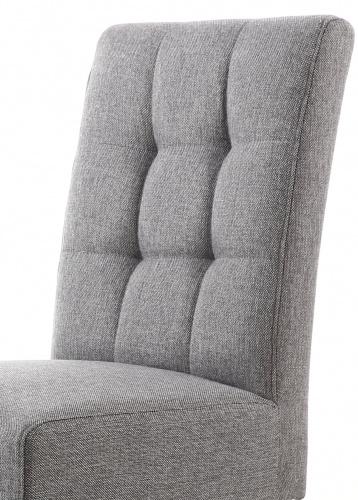 Shankar Moseley Waffle Linen Steel Grey Chair Natural Legs