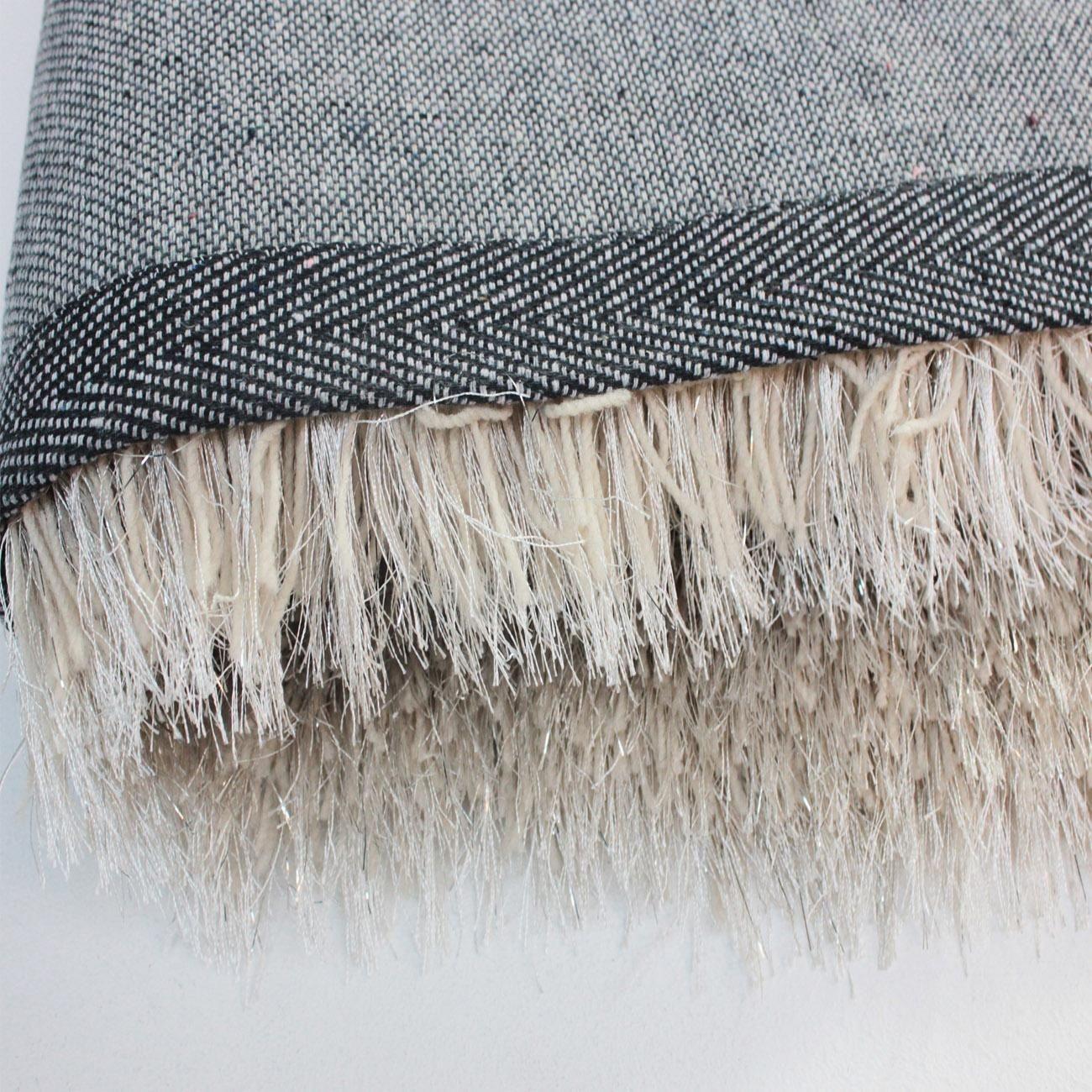 Flair Rugs Dazzle Natural Plain Shaggy Sparkle 160 x 230 cm