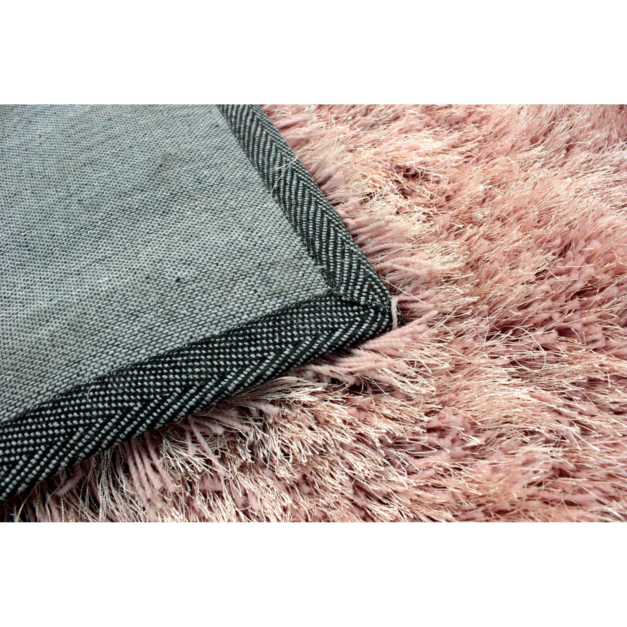 Flair Rugs Dazzle Blush Pink Plain Shaggy Sparkle Rug - 160 x 230 cm