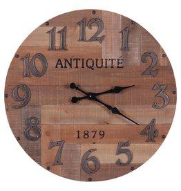 Besp-Oak Rustic Reclaimed Large Round Wooden Clock