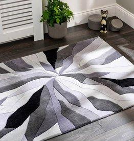 Flair Rugs Infinite Splinter Grey Abstract Rug - 120 x 170 cm