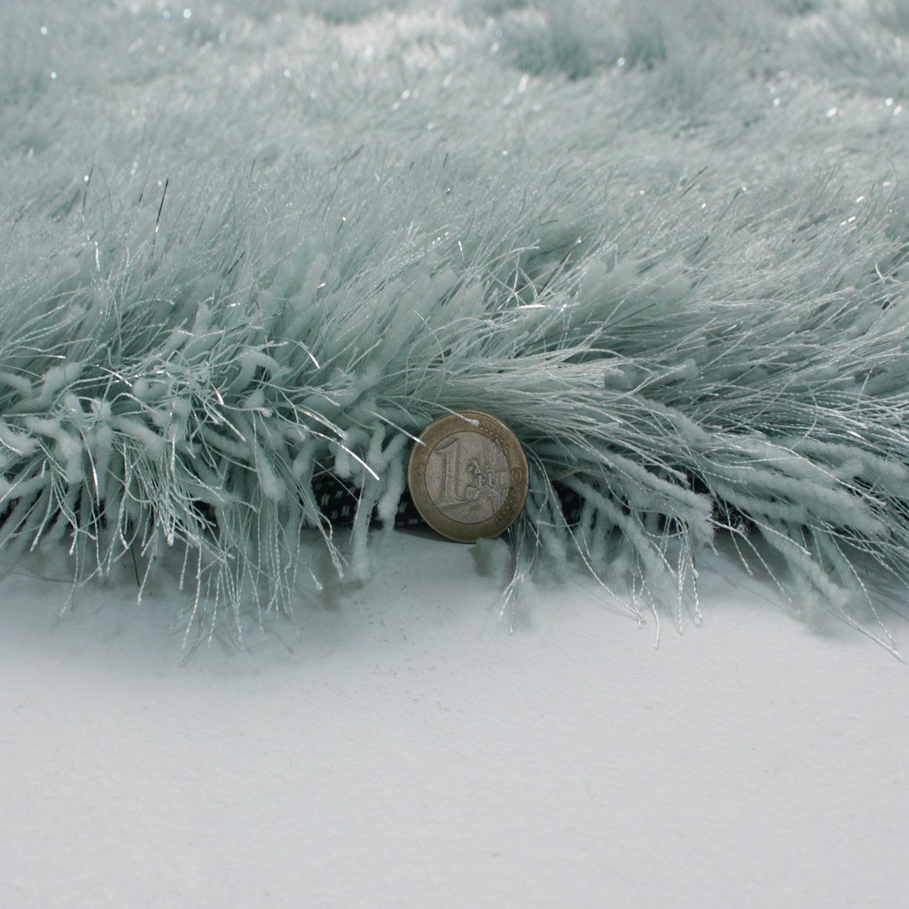 Flair Rugs Dazzle Duck Egg Plain Shaggy Sparkle Rug - 120 x 170 cm