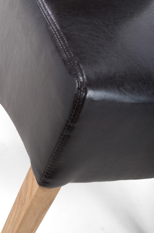 Shankar Krista Roll Back Bonded Leather Black Chair