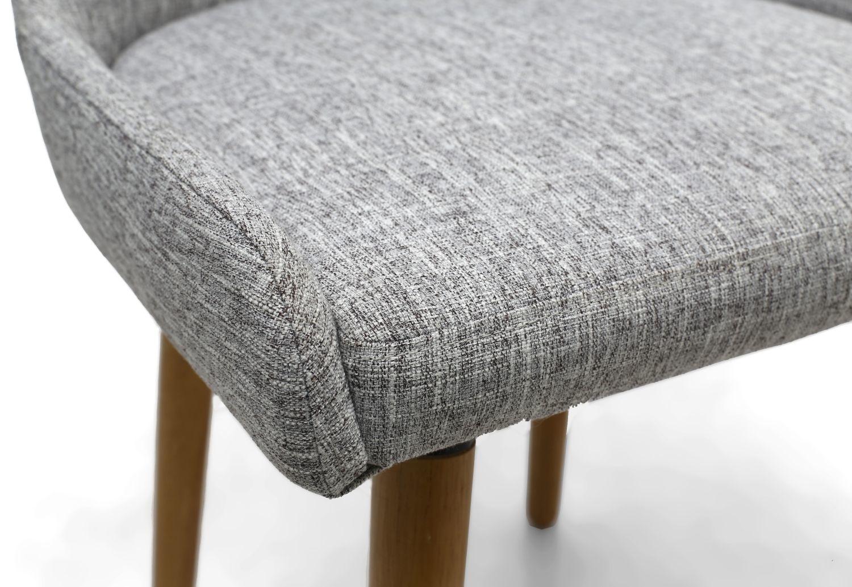 Shankar Capri Flax Effect Grey Weave Dining Chair