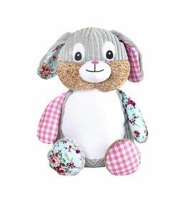 Lucalina Schmusi´s Schmusi - Harlequin rabbit pink, app. 30 cm