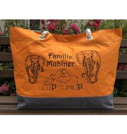 """Shopper """"Elefantenfamilie"""""""